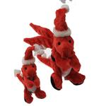 View Image 3 of GoDog Santa Dragon Dog Toy with Chew Guard