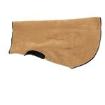 View Image 2 of Gold Paw Reversible Double Fleece Dog Jacket - Black/Camel