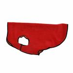 View Image 1 of Gold Paw Reversible Double Fleece Dog Jacket - Red/Orange