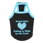 View Image 1 of Good Girl Dog Shirt by Puppia - Black
