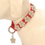 View Image 1 of Gracie Silver on Red Daisy Dog Leash