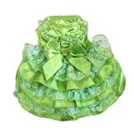View Image 2 of Green, White and Gold Organza Dog Dress
