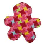 View Image 1 of Grriggles Bright Houndstooth Men Dog Toy - Red
