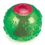 View Image 2 of Grriggles FUNdamentals Treat Ball Dog Toy - Parrot Green