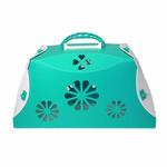 View Image 2 of Guardian Gear Blossom Color-Me Pet Crate - Sea Glass