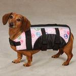 View Image 3 of Guardian Gear Printed Pet Preserver - Peace Sign