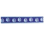 View Image 1 of Guardian Gear Two Tone Pawprint Collar - Blue