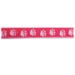 View Image 1 of Guardian Gear Two Tone Pawprint Collar - Pink