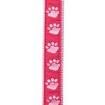 Guardian Gear Two Tone Pawprint Leash - Pink