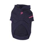 View Image 2 of Hallmark Hooded Dog Shirt by Puppia - Navy