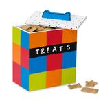 View Image 1 of Hand Painted Multicolor Dog Treat Box