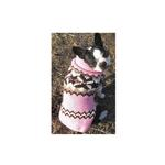 View Image 3 of Handmade Aspen Fair Isle Wool Dog Sweater - Pink