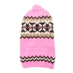 View Image 1 of Handmade Aspen Fair Isle Wool Dog Sweater - Pink
