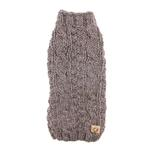 Handmade Cable Knit Wool Dog Sweater - Gray