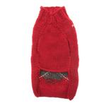 View Image 2 of Handmade Classic Argyle Wool Dog Sweater - Red
