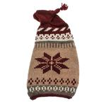 View Image 1 of Handmade Rustic Snowflake Wool Dog Sweater