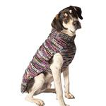 View Image 2 of Handmade Woodstock Wool Dog Sweater - Purple
