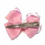 View Image 2 of Happy Face Apple Ribbon Dog Bow - Pink Face and Pink Ribbon