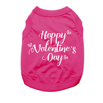 Happy Valentine's Day Dog Shirt - Raspberry