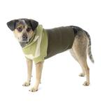 View Image 3 of Harley's Hooded Dog Sweater - Winter Pear & Olive Stripe