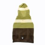 View Image 1 of Harley's Hooded Dog Sweater - Winter Pear & Olive Stripe