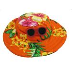 View Image 1 of Hawaiian Dog Hat - Orange