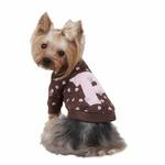 View Image 1 of Heart Cotton Dog Sweartshirt by Pinkaholic - Brown
