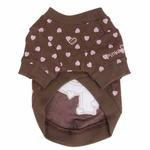 View Image 3 of Heart Cotton Dog Sweartshirt by Pinkaholic - Brown