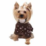View Image 2 of Heart Cotton Dog Sweartshirt by Pinkaholic - Brown