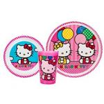 Hello Kitty Dinnerware - 3 Piece Dinnerware Set