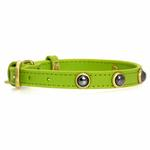 View Image 2 of Hematite Pebbles Dog Collar - Green