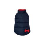 Reversible Bone Puffer Dog Jacket by fabdog® - Navy/Red