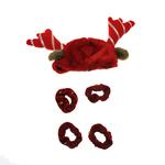 View Image 1 of Holiday Reindeer Dog Costume with Leg Cuffs - Red & White