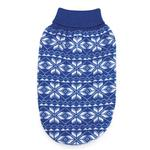 View Image 1 of Holiday Snowflake Dog Sweater - Blue