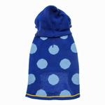 View Image 1 of Hooded Polka Dot Dog Sweater - Blue