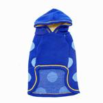 View Image 3 of Hooded Polka Dot Dog Sweater - Blue