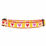 Hot Hearts Dog Collar by Up Country