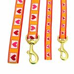 View Image 2 of Hot Hearts Dog Leash by Up Country