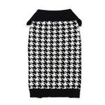 Houndstooth Dog Sweater by Dogo - Black