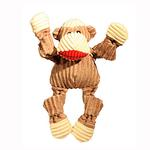 HuggleHounds Knottie Dog Toy - Sock Monkey