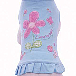 View Image 1 of I Love My Dad Embroidered Dress - Blue