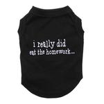 View Image 3 of I Really Did Eat The Homework Dog Shirt - Black