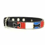 View Image 1 of Ice Cream Dog Collar - Patriotic Bone