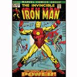 Iron Man Bedroom Decor - Vintage Issue #47 Comic Cover Giant Wall Decal