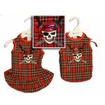 View Image 1 of Jolly Roger Dog Dress - Red Plaid