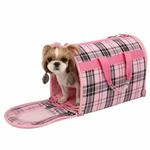 View Image 1 of Junior Cage Dog Carrier by Puppia - Pink