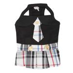 View Image 1 of Junior Dog Dress by Puppia - Black