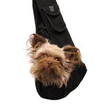 Just Hangin' Messenger Style Sling Pet Carrier - Black