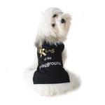 View Image 1 of King of the Playground Dog T-Shirt - Black