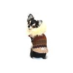 View Image 3 of Knit Fuzzy Designer Dog Sweater by Hip Doggie